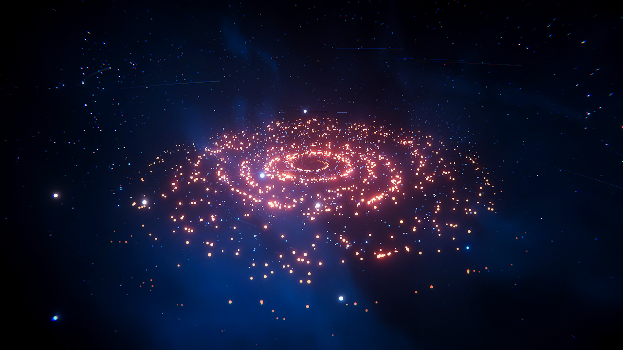 Stylized Particle Galaxy – Mirza's Realm